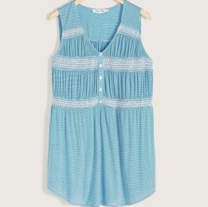 In Every Story | Smocked Sleeveless Tunic Top